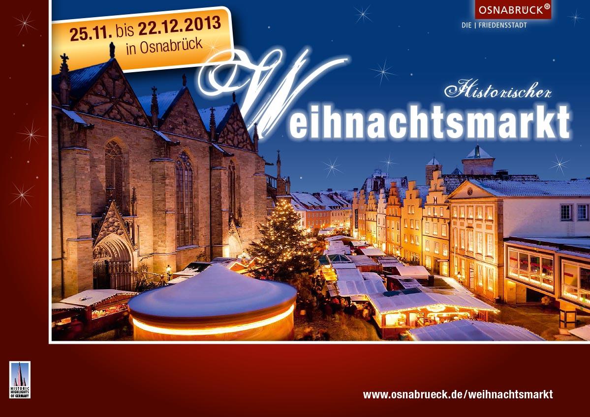 Weihnachtsmarkt Foto mit Schnee. Detlef Heese fotografierte den Osnabrücker Weihnachtsmarkt auf dem Marktplatz in Osnabrück