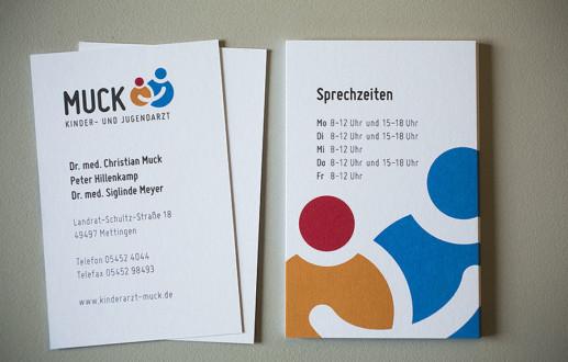 Kinderarztpraxis Dr. Muck hat eine neue Geschäftsausstattung