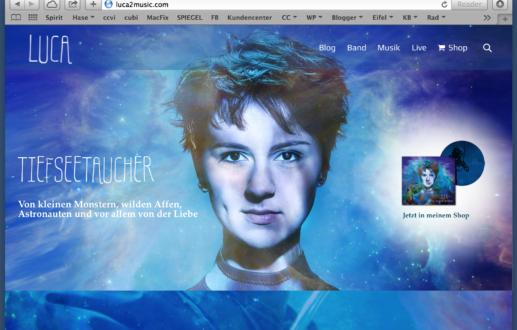 Tiefseetaucher Webseite Luca Sophie Reinartz Osnabrücker Singer Songwriterin