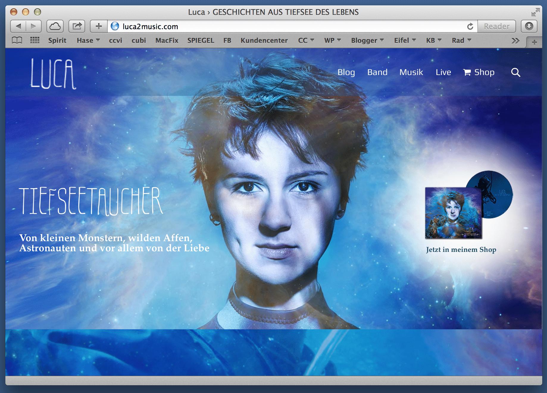 Band Webseite von Luca