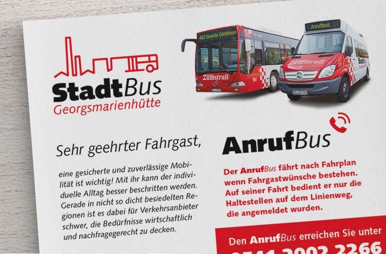 Logogestaltung Stadtbus Georgsmarienhütte ÖPNV-Grafikdesign Osnabrück