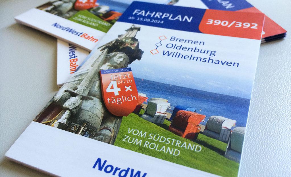 Fahrplan Design für NordWestBahn