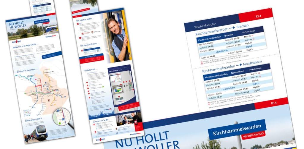 Werbung auf Plattdeutsch: Grafikdesign und Kampagne für ÖPNV NordWestBahn Regio-S-Bahn Bremen