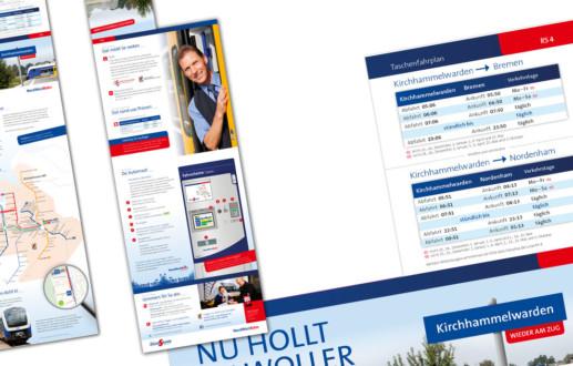 Grafikdesign und Kampagne für ÖPNV NordWestBahn Regio-S-Bahn Bremen