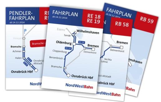 Die Nordwestbahn zeigt neue Fahrpläne über Osnabrück und Oldenburg