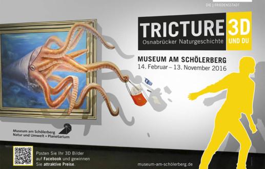 Tritture 3D im Museum am Schölerberg gibt es spannende 3D-Art zu sehen in der Ausstellung