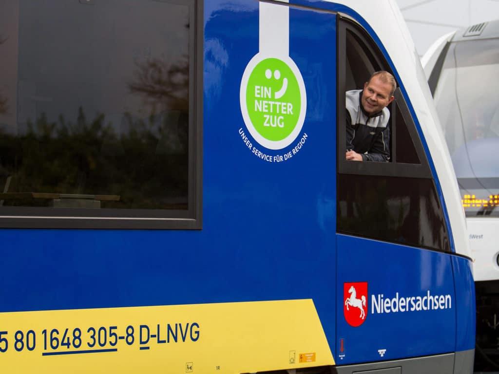 Ein netter Zug in Osnabrück aus der Grafikagentur Hasegold