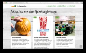 Aktuelles von dem Gemüsegärtnern mit SEO auf der Webseite