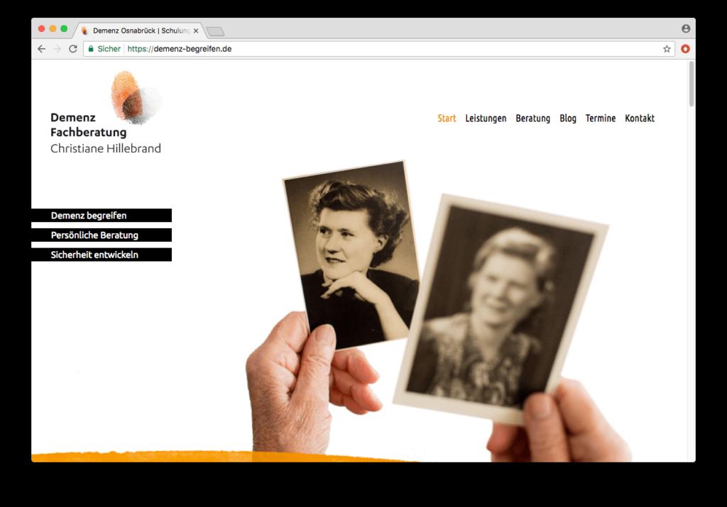WordPress Webseite für Demenz begreifen, von Hasegold