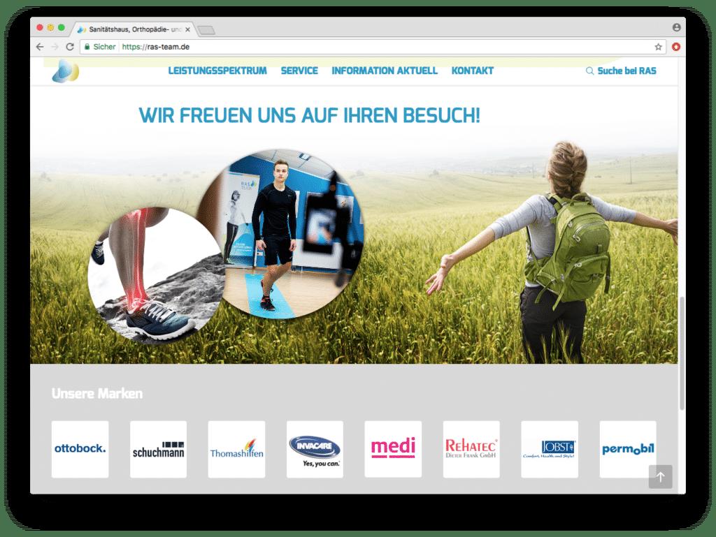 Das frische Cooperate design findet sich auch auf der Webseite wieder