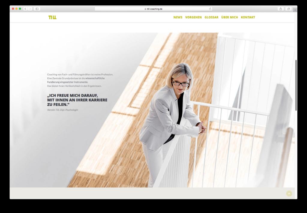 Till Beratung, kommt ganz neu, mit Wordpress eine schöne Internetseite