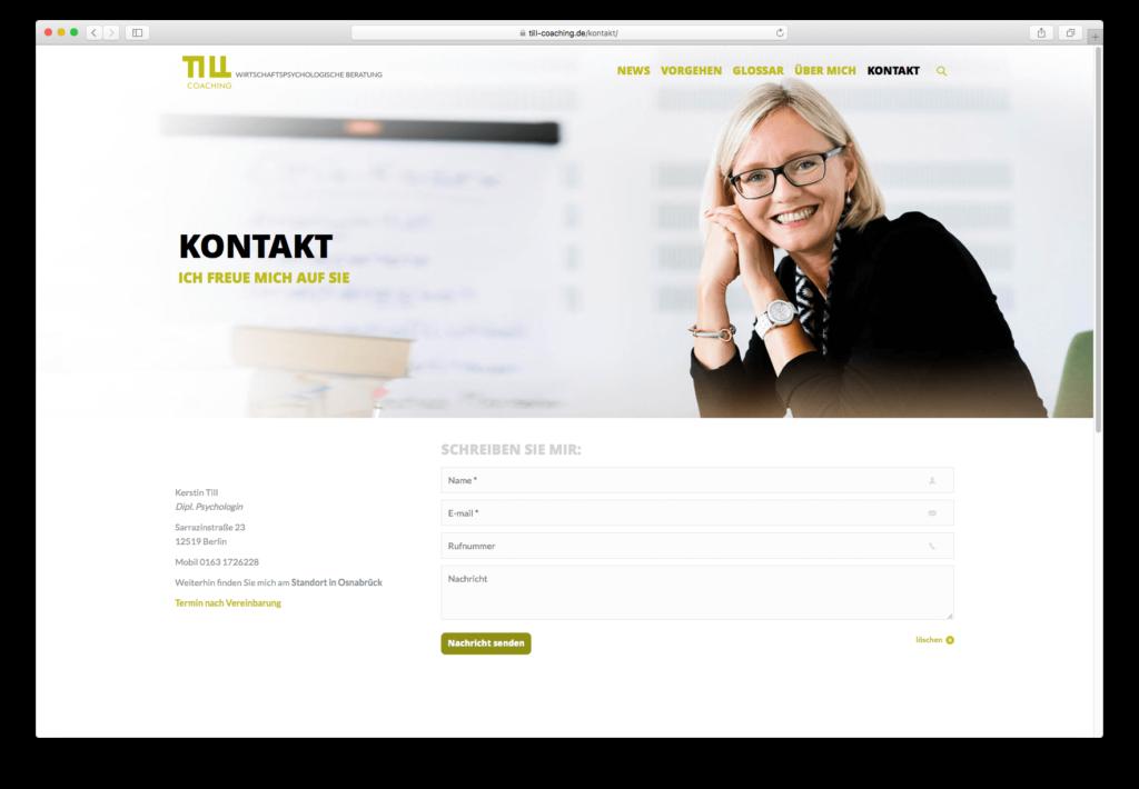 Till Beratung, neue Internetseite mit Wordpress