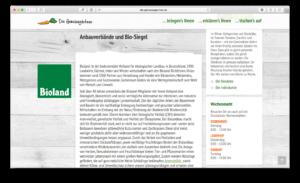 Auch Infos zum Bio-Siegel gibt es auf der Internetseite von HASEGOLD erstellt mit SEO