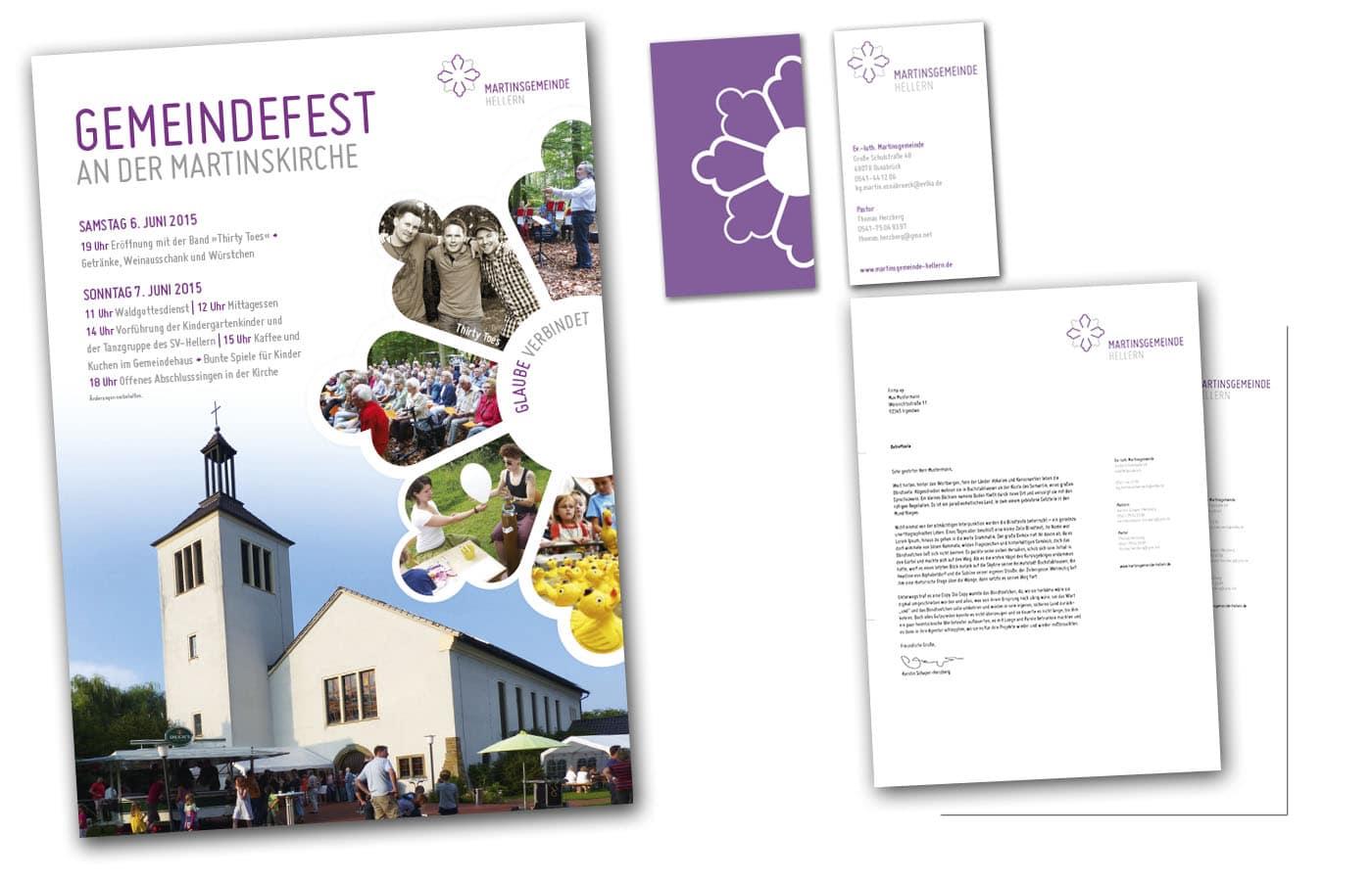 Martinsgemeinde in Hellern hat ein neues Corporate Design auf Grundlage des neuen Logos