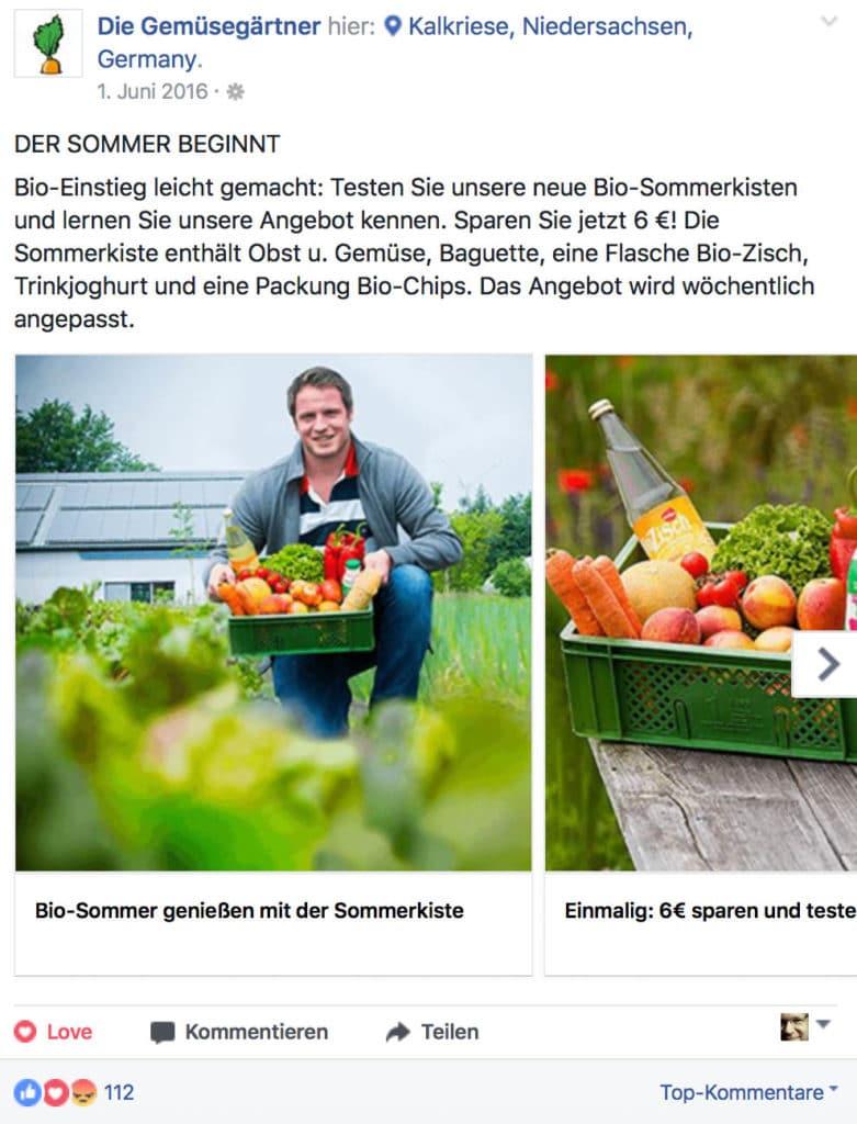 Facebook-Werbung in Osnabrück von Hasegold