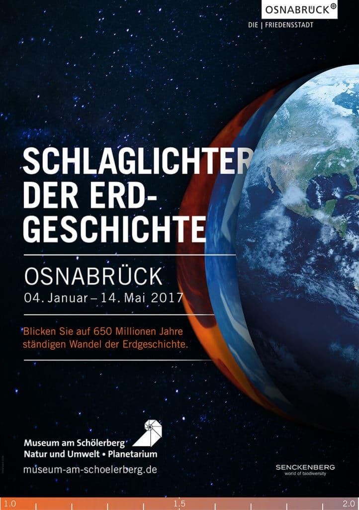 Plakat osnabrück /// Plakatgestaltung zur Ausstellung über das Klima und den Klimawandel Museum am Schölerberg