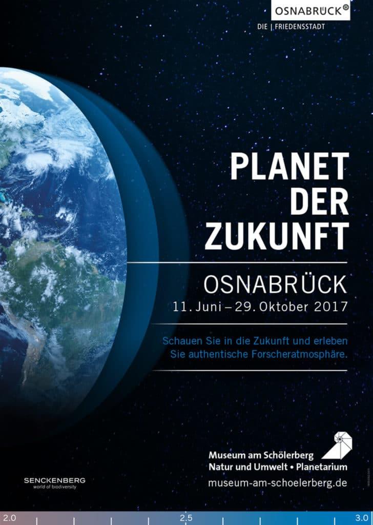 Plakat:Die Welt wandelt sich durch das Klima, das Plakat zur Ausstellung über das Klima im Museum am Schölerberg – Plakatgestaltung
