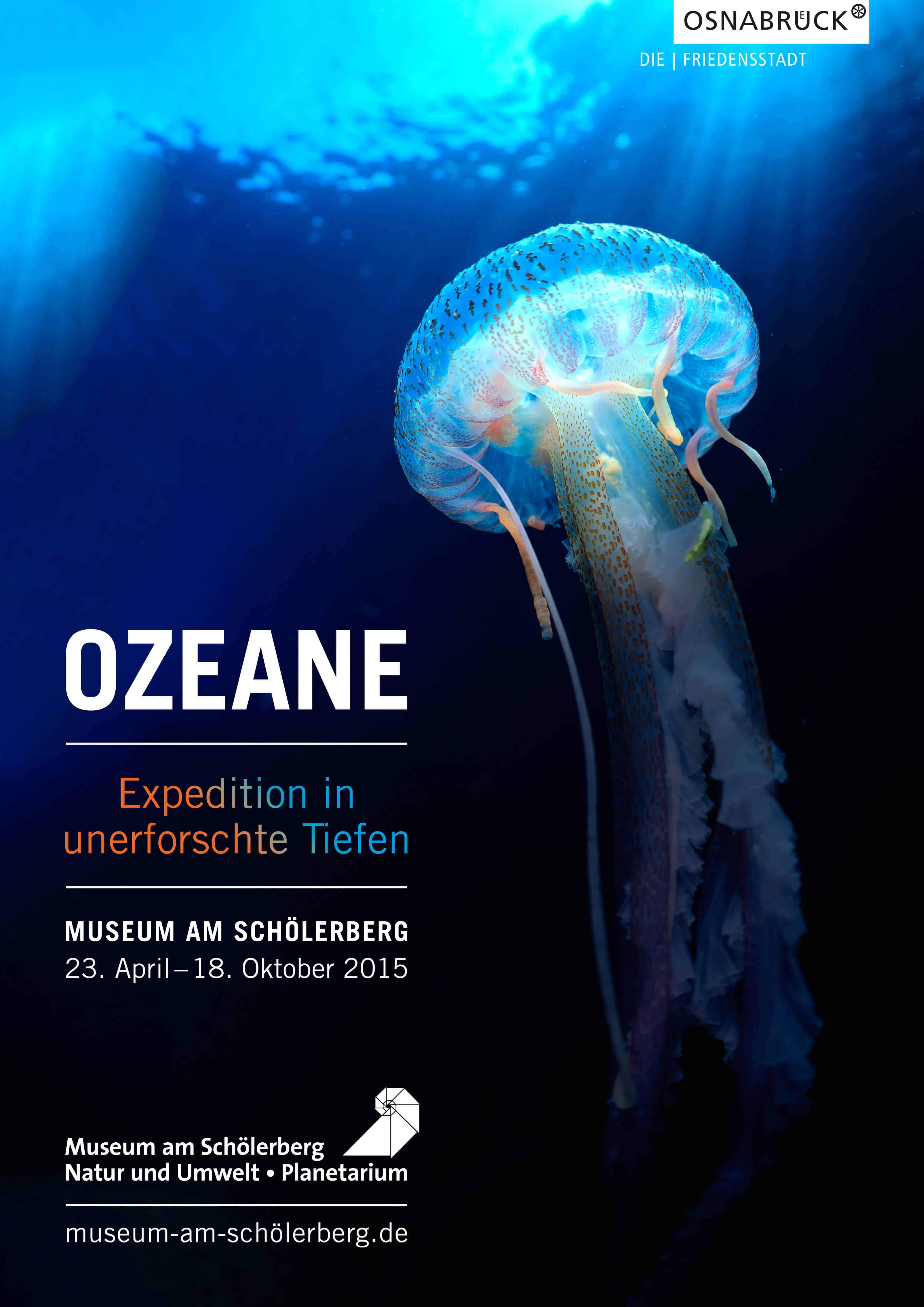 Fotoausstellung ::: Ozeane Unerforschte Tiefen in Osnabrück Plakat und Einladung gestaltet von HASEGOLD