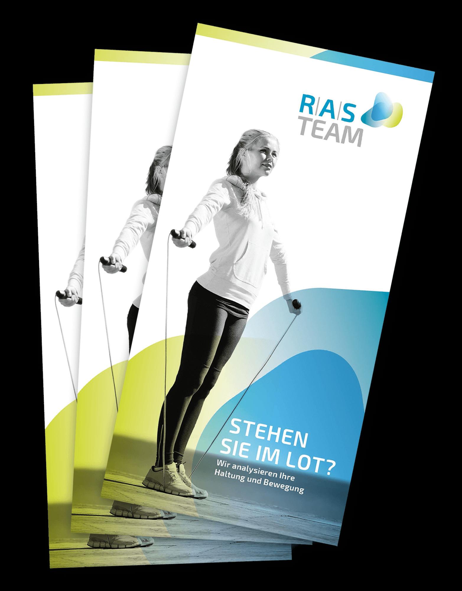 Der Flyer des RAS Teams, ein neues Corporate Design für ein neues Gesicht