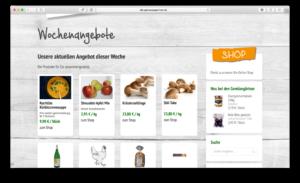 Wochenrezepte sind lecker, das als zu sehen auf der SEO Optimierten Webseite