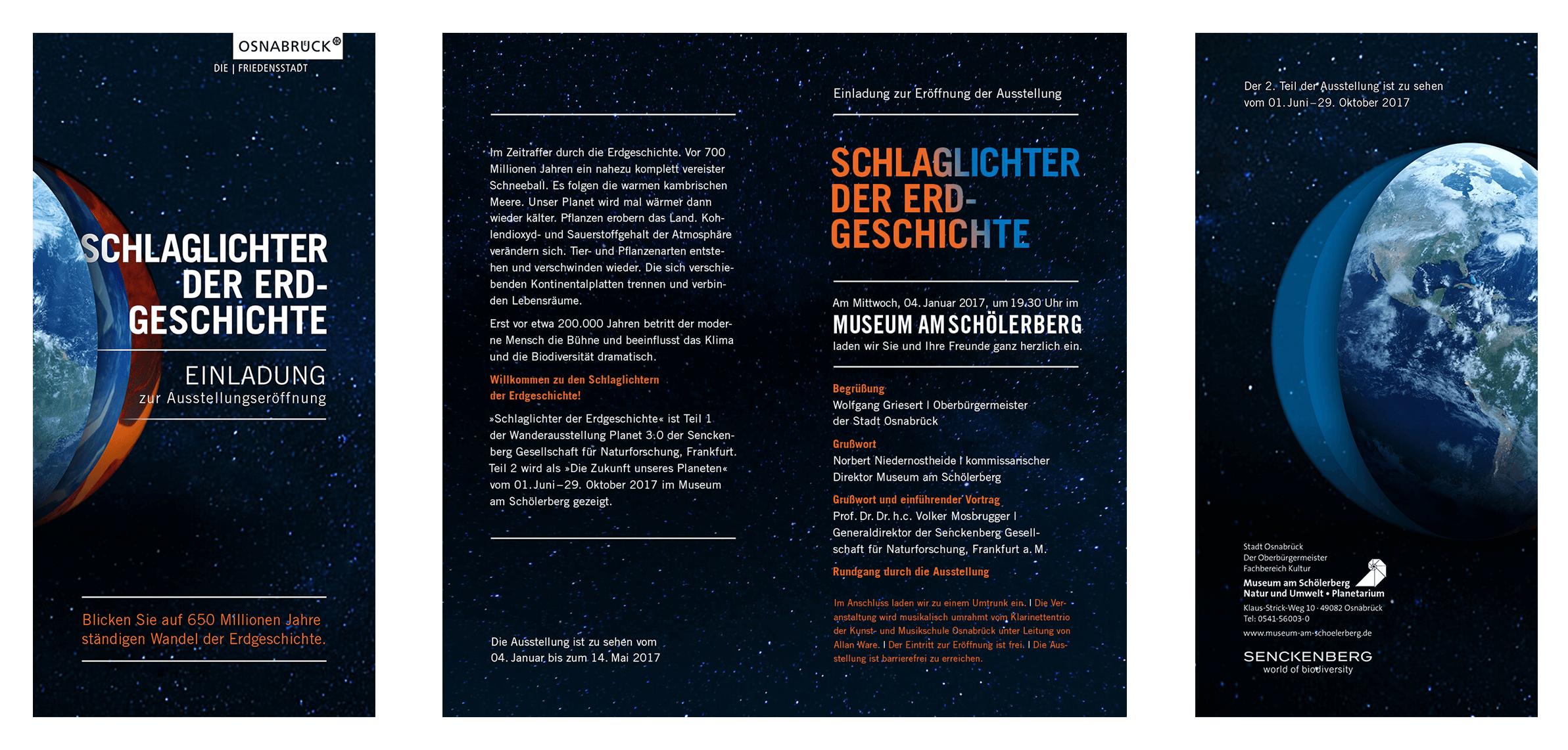 Die Einladung zur Klima-Austellung für das Museum am Schölerberg