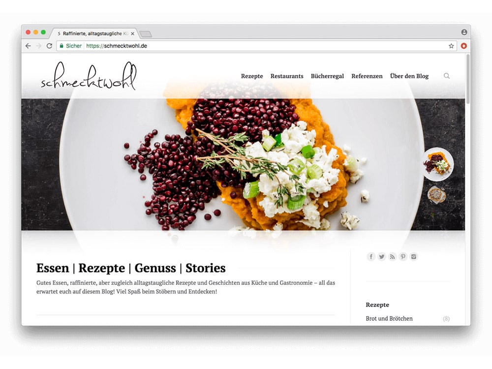 wordpress food blog - Foodblog Beratung WordPress Osnabrück