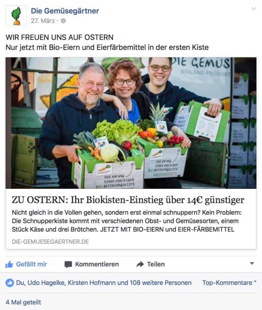 Kundenbindung und Gewinnung am Beispiel der Gemüsegärtner im Bio-Bereich