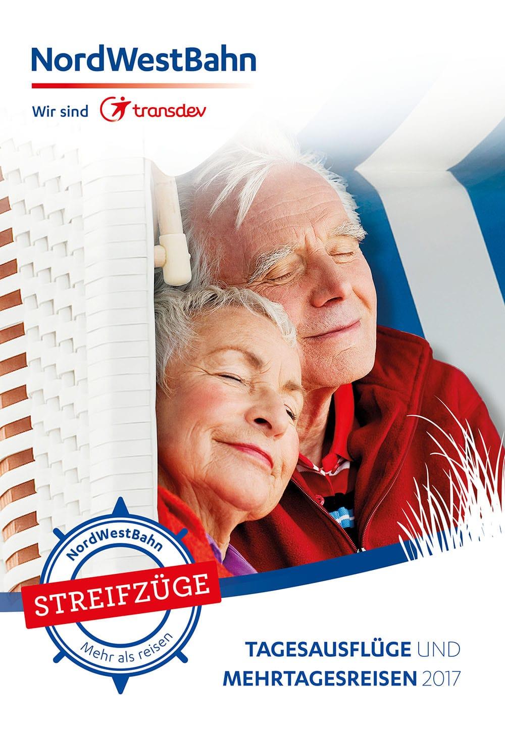 Grafikdesign - Nordsee-Reiseprogramm der NordWestBahn Osnabrück