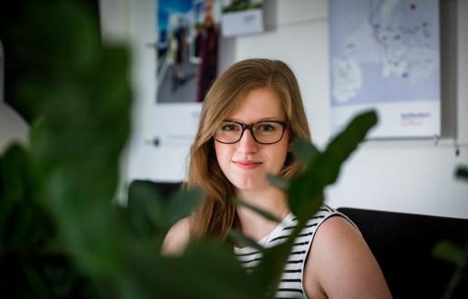 Die Grafikerin Marike Lüders bei der Osnabrücker Agentur Hasegold.