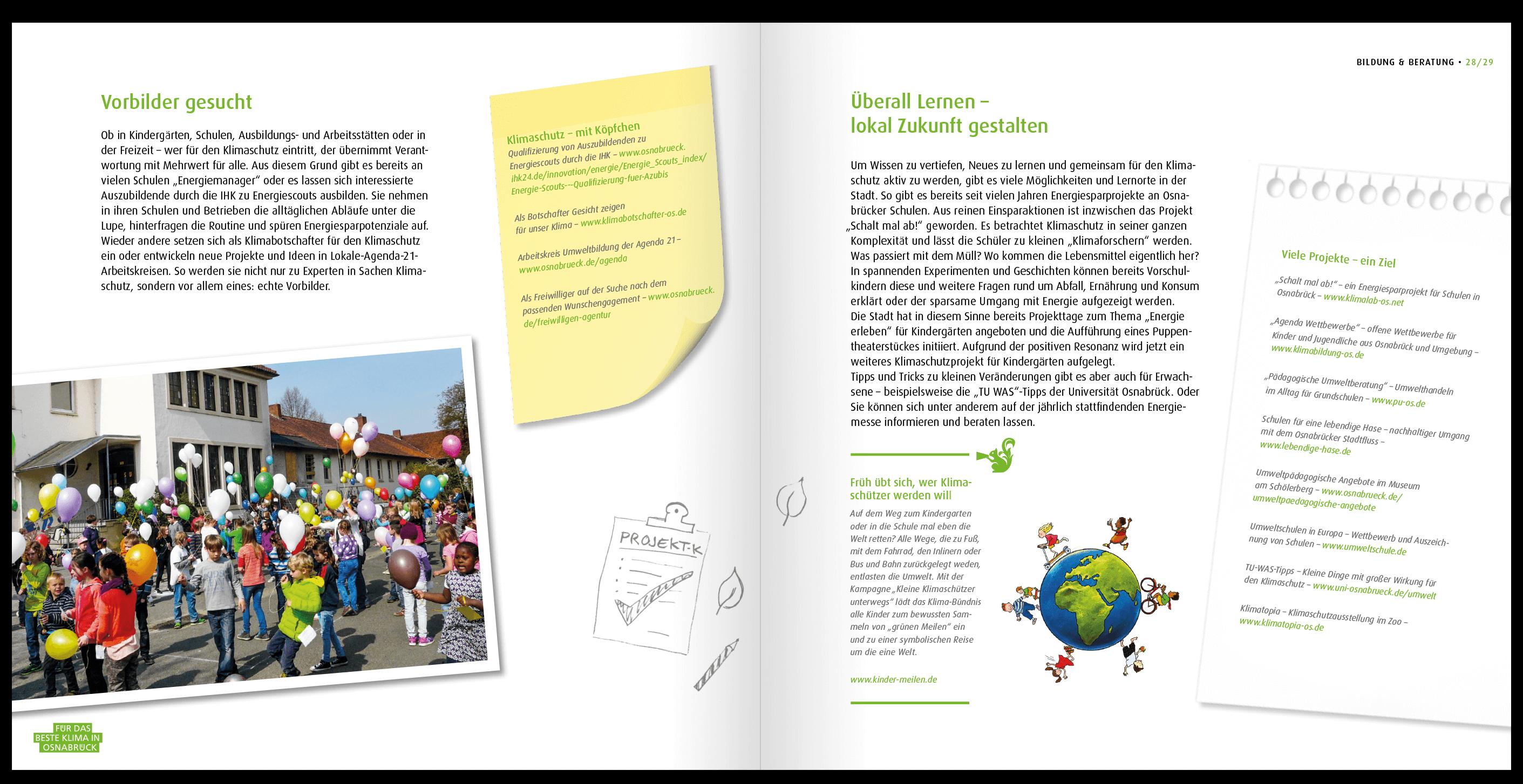 Infos über den Klimaschutz in dieser Broschüre von HASEGOLD gestaltet