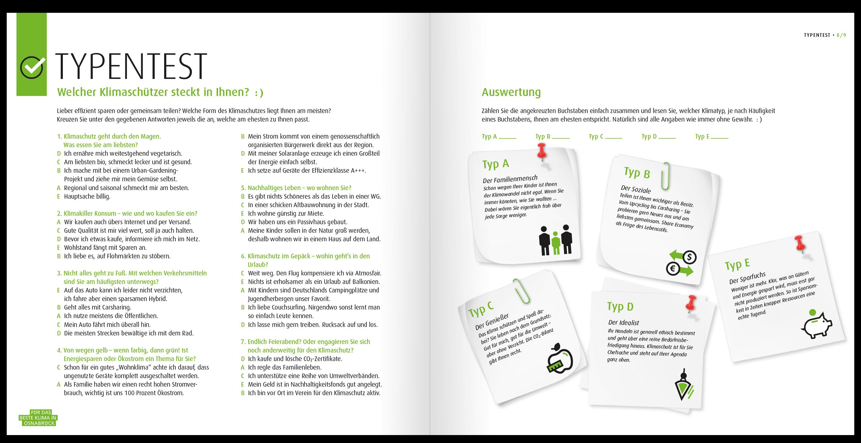 Teste dich in der Broschüre und erfahre welcher Klimatyp du bist