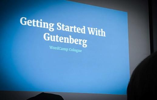 Gutenberg zwischen Sessions, Code und WordPress