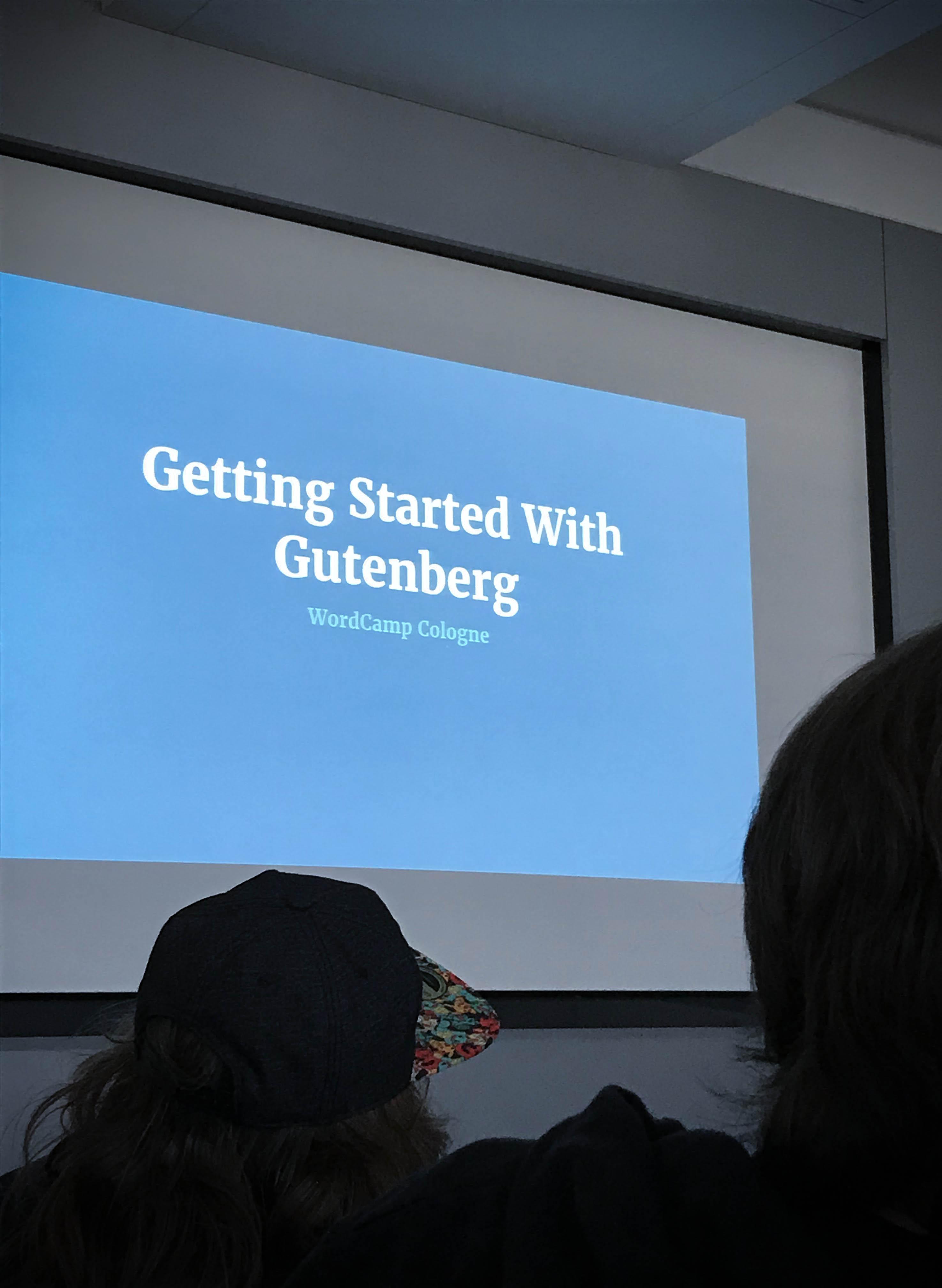 Guteberg ist der neue Editor von WordPress. WordCamp-Session in Köln,