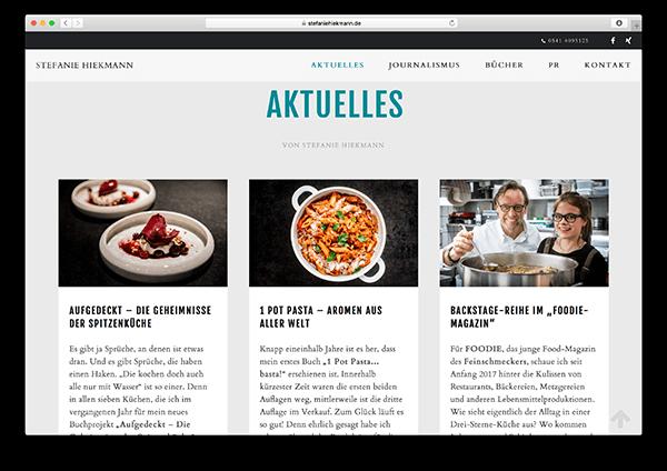 WordPress Webseite für Osnabrücker Gastro-Journalistin