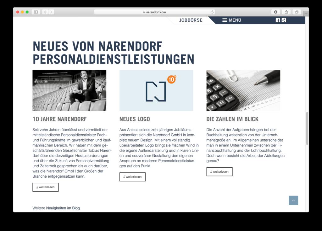 WordPress für Georgsmarienhütte: Narendorf nutzt WordPress