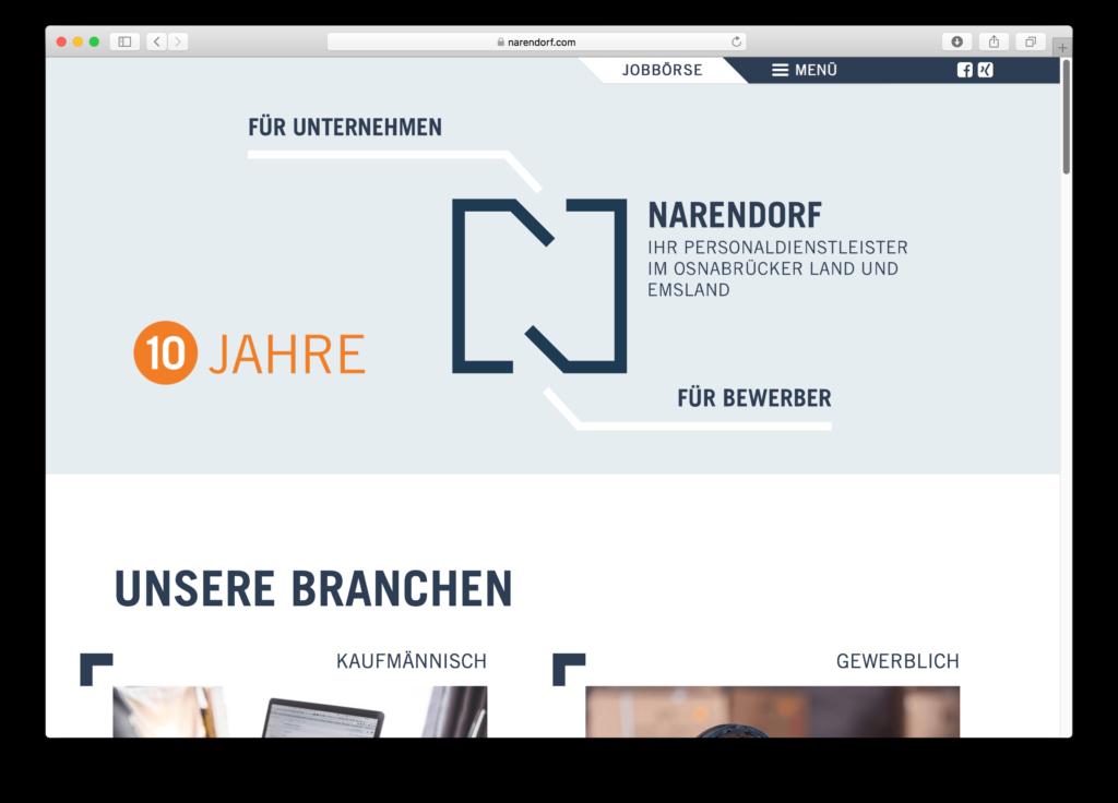 10 Jahre Narendorf: Mit neuem Logo und WordPress-Webseite