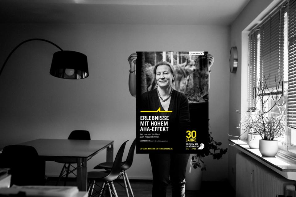 Plakat Osnabrück: Mehr Testimionual Motive für das Musueum am Schölerberg fotografiert von Detlef Heese