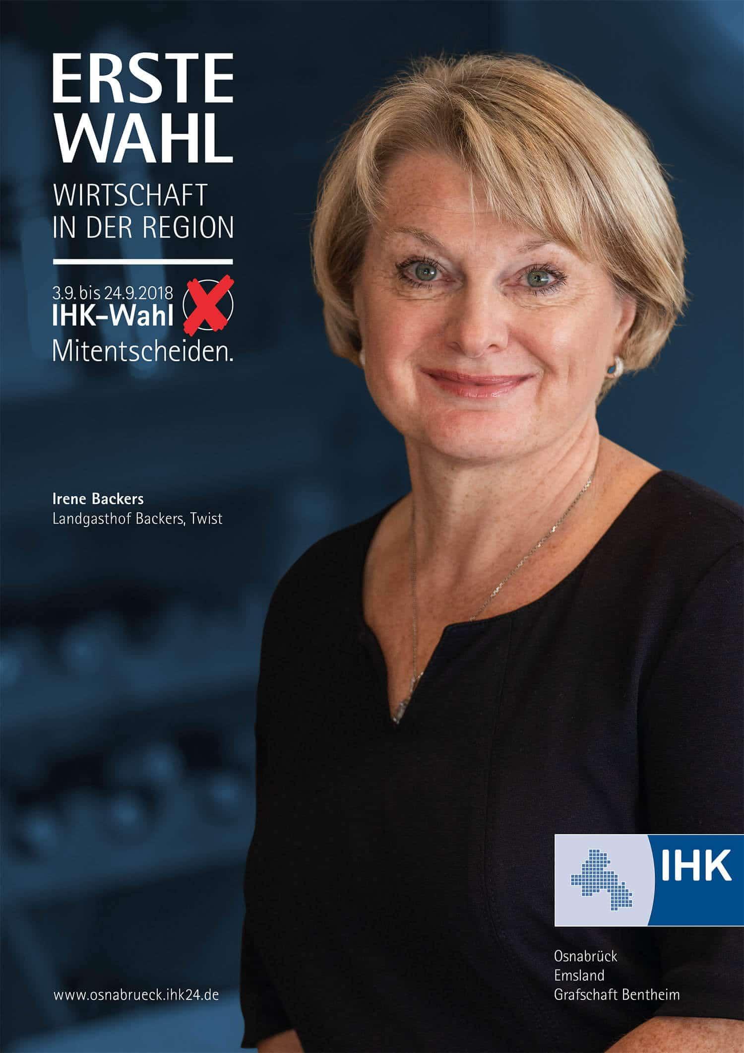 ihk vollversammlung: Wahlplakat IHK Osnabrücker von der Osnabrücker Grafikdesignagetur Hasegold.