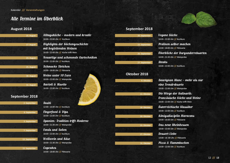 Broschüre mit Programmheft gestaltet von den Grafikern von der Osnabrücker Design-Agentur HASEGOLD