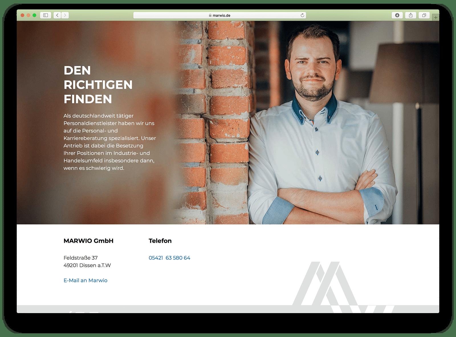 Die WordPress Webseite von der Osnabrücker Grafikdesign-Agentur HASEGOLD.