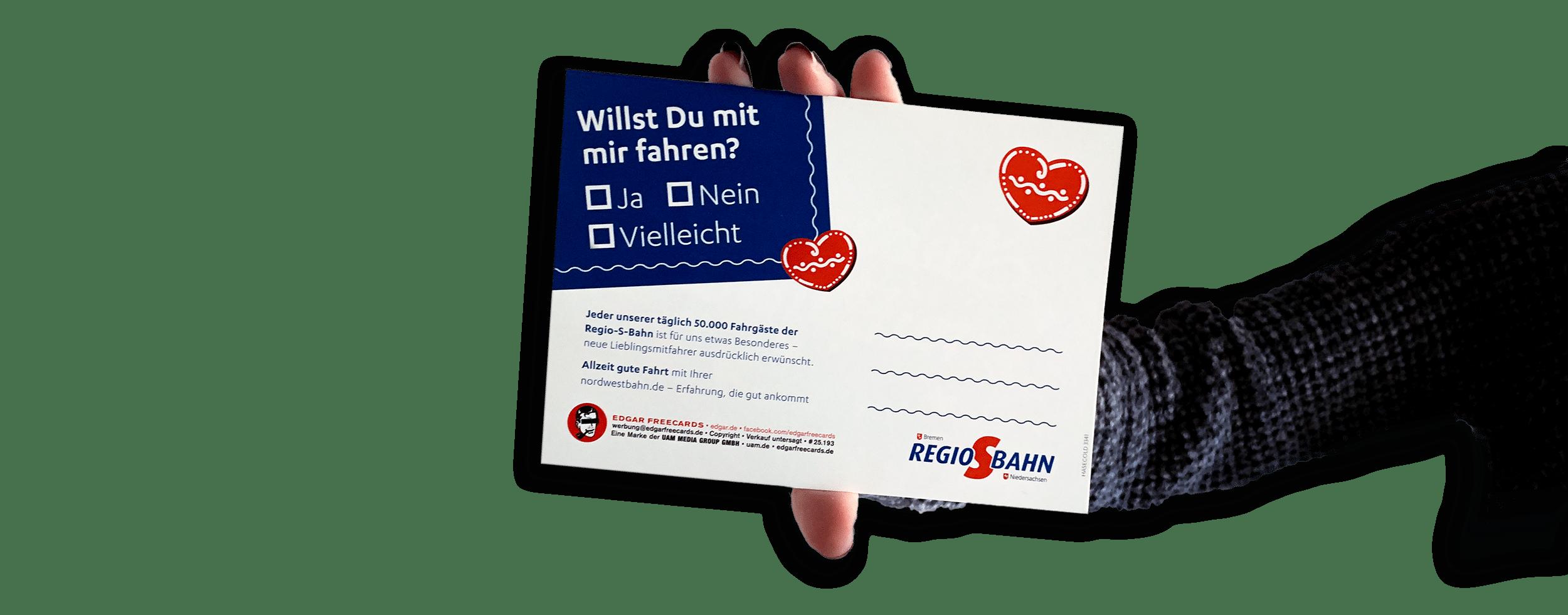 Postkarte mit Herz 1