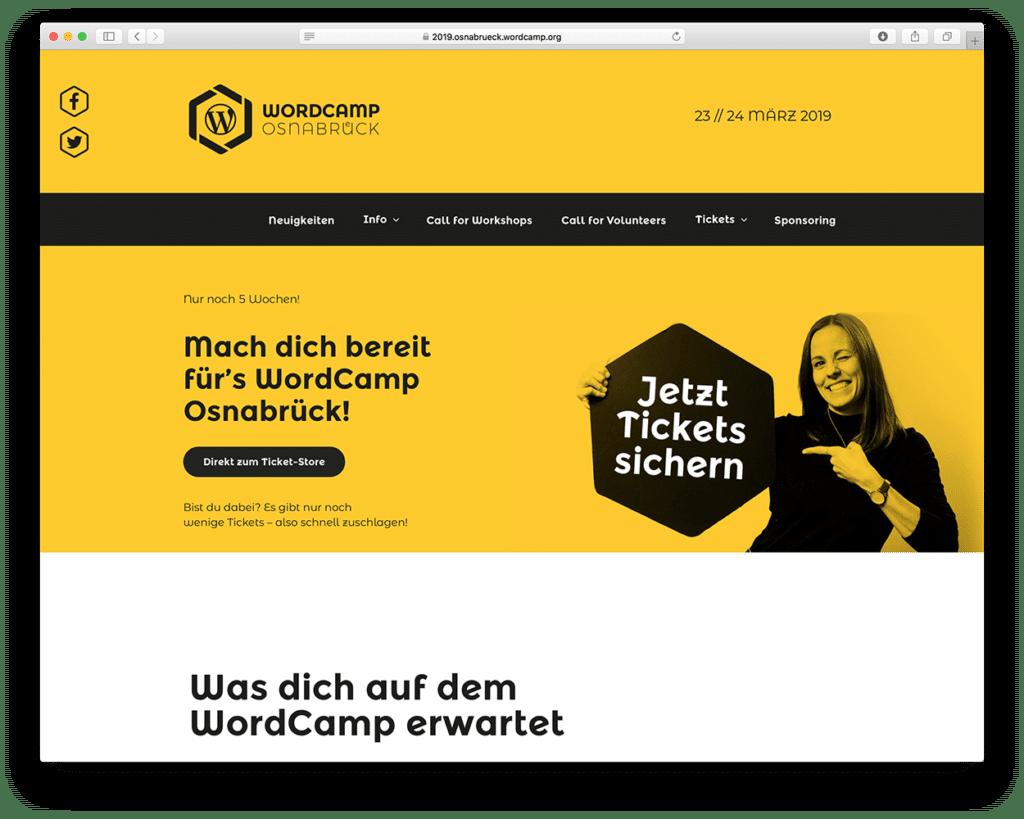Webdesign mit WordPress auf dem WordCamp in Osnabrück
