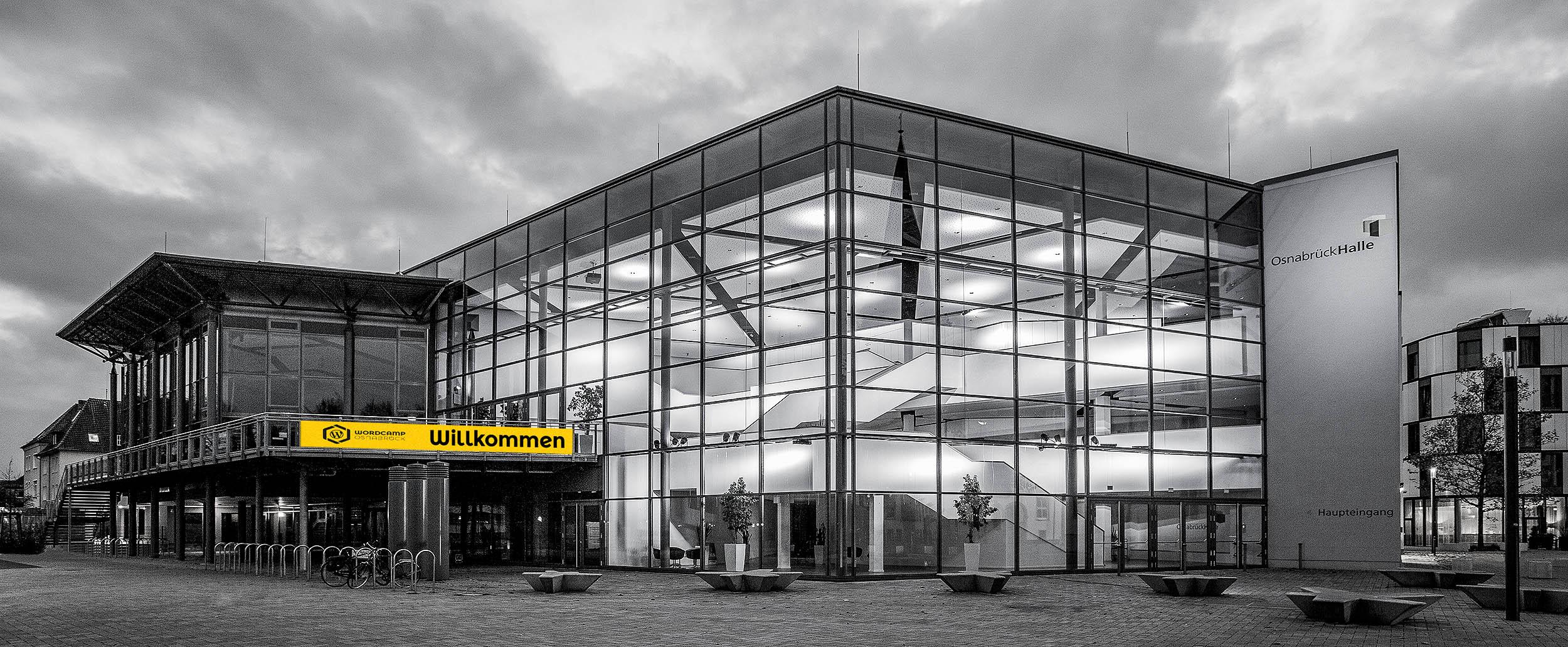 Das erste WordCamp Deutschland 2019. Das WordCamp Osnabrück in der OsnabrückHalle