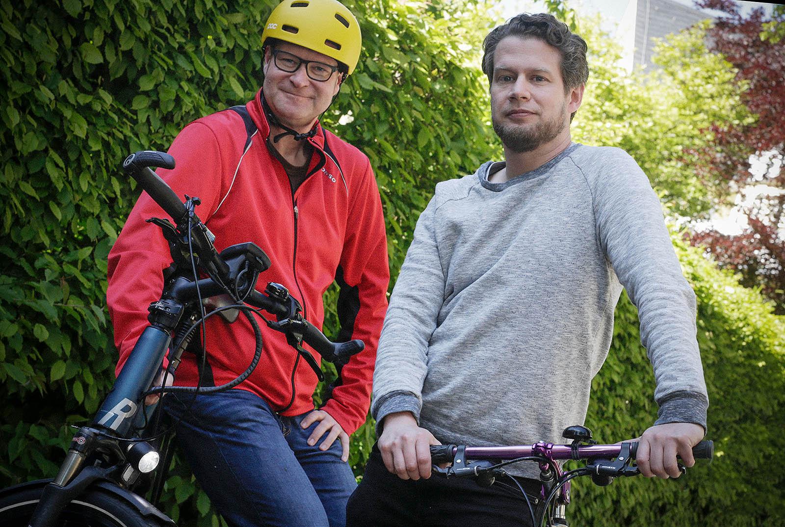 STADTRADELN OSNABRÜCK /// Mit der Fahrrad in die Agentur: Detlef Heese und Sigurd Könker nehmen für die Arbeitsweg oft das Rad