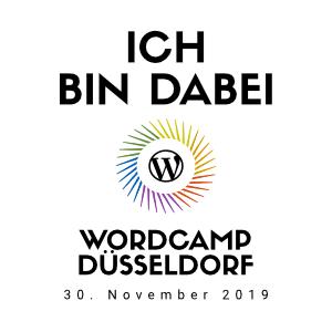 WordPress WordCamp in Düsseldorf .. Wir sind dabei