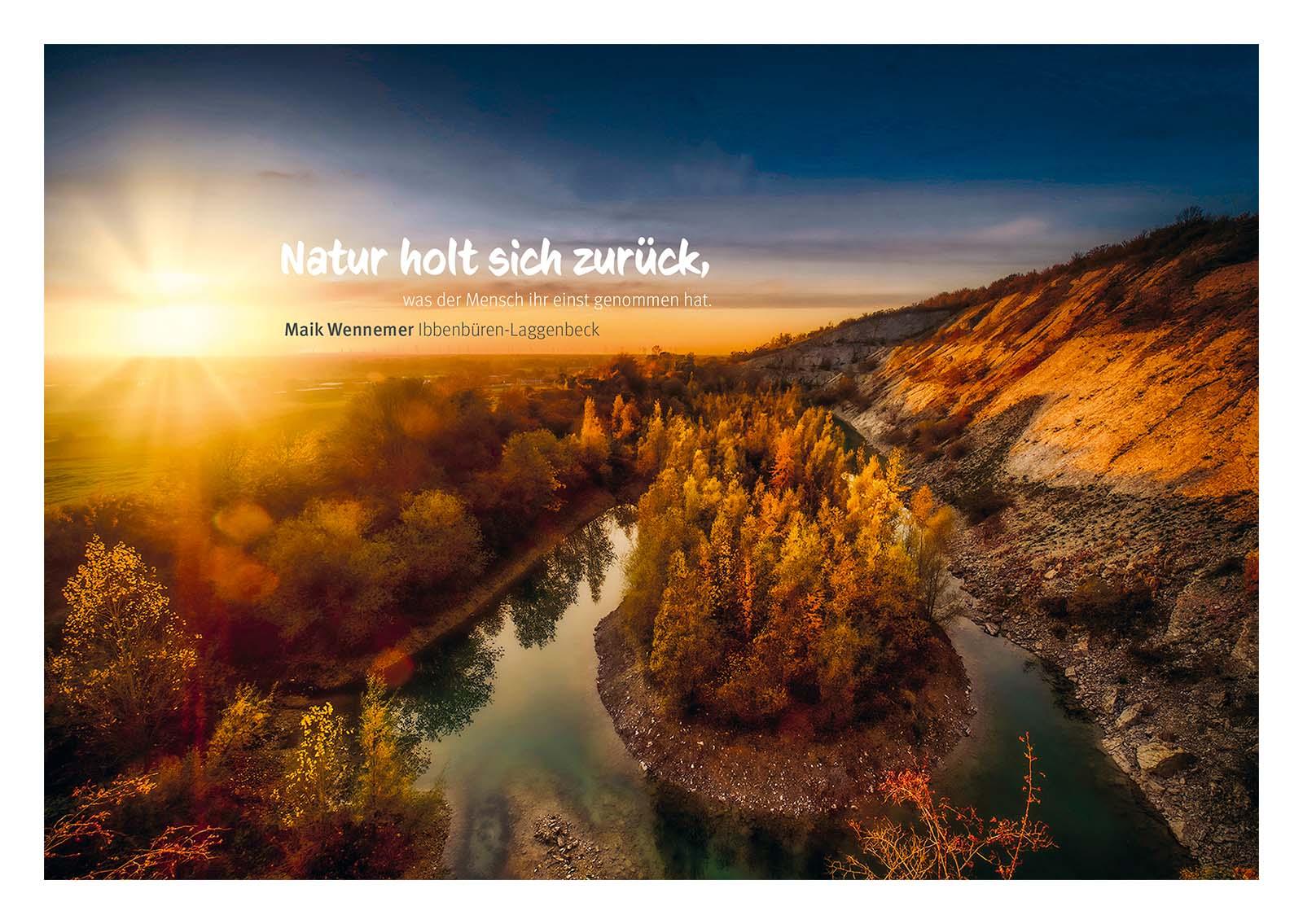 Typografie in Fotografie mit postkarten aus dem TERRA:vita-Gebiet /// Postkarten TERRA.vita