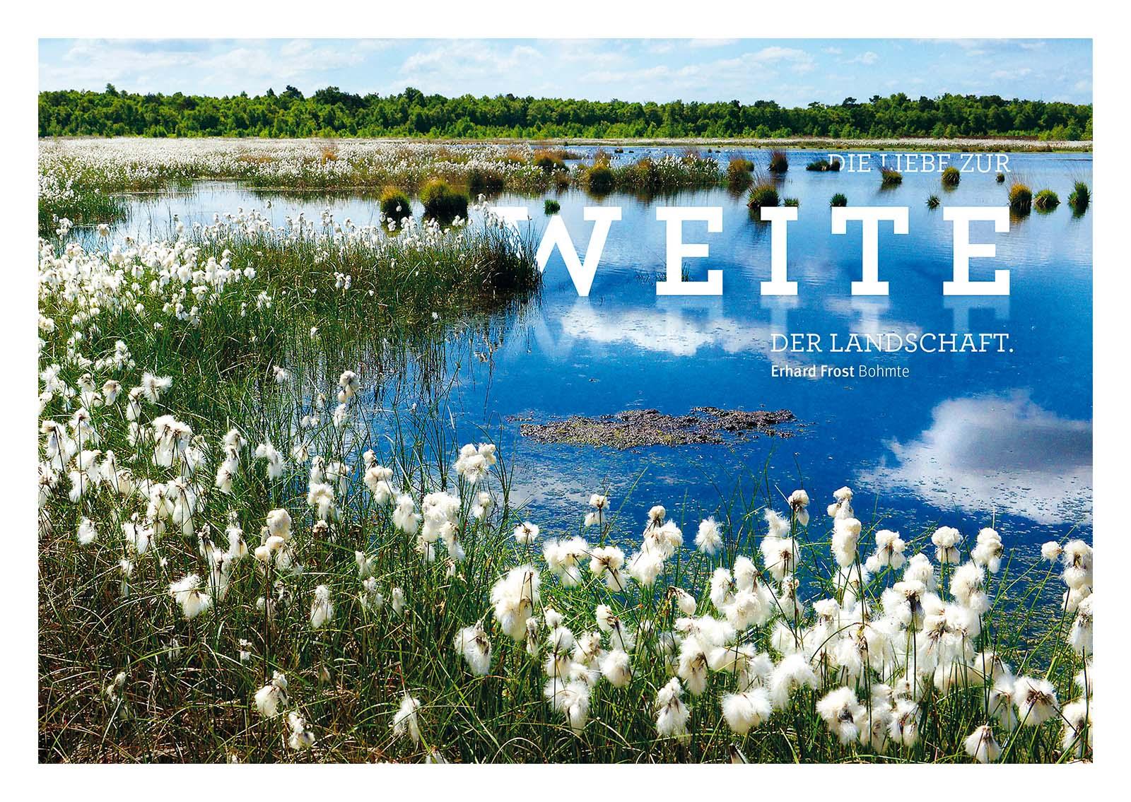 Grafikdesign für TERRA.vita dem Natur- und Geopark. Die Osnabrücker Agentur HASEGOLD entwickelte 9 Postkarten mit einer Mischung aus Typografie und Fotografie
